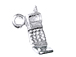 Sterling Silver Cellular Flip Phone Charm