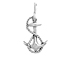 Sterling Silver Anchor with Rope Charm