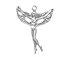 Sterling Silver Left Facing Fairy Charm
