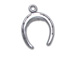 Sterling Silver Lucky Horseshoe charm Flat Charm with Jumpring