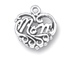 Sterling Silver Filigree Mom Charm with Jumpring
