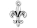 Sterling Silver Fleur-De-Lis Charm with Jumpring