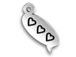 Sterling Silver Hearts Text Chat Charm  with Jumpring