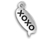 Sterling Silver XOXO Text Chat Charm  with Jumpring