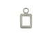 9mm Sterling Silver Number Charm -  0