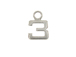 9mm Sterling Silver Number Charm -  3