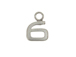 9mm Sterling Silver Number Charm -  6