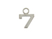 9mm Sterling Silver Number Charm -  7