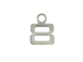9mm Sterling Silver Number Charm -  8