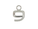 9mm Sterling Silver Number Charm -  9