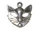 Sterling Silver Cat Mask Charm
