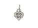 Sterling Silver Heart with Big Sis Charm with Jumpring