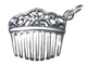 Sterling Silver Ladies Hair Comb Charm