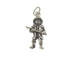 Sterling Silver Fireman with Axe Charm