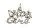 Sterling Silver Daddy' s Girl Charm with Jumpring