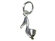 Sterling Silver High Heel Slipper Charm with Jumpring