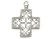 Sterling Silver Filigree Cross Charm with Jumpring