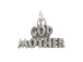 Sterling Silver God Mother Charm with Jumpring