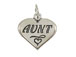 Sterling Silver Heart with Aunt Charm with Jumpring