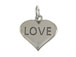 Sterling Silver Heart with Love Charm with Jumpring