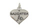 Sterling Silver Heart with Daughter Charm with Jumpring