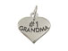 Sterling Silver Heart with #1 Grandma Charm with Jumpring