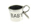 Sterling Silver Baby Cup Charm with Jumpring