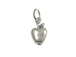 Sterling Silver Apple Charm with Jumpring