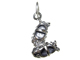Sterling Silver Girl' s Shoes Charm with Jumpring