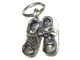 Sterling Silver Baby Shoes Charm with Jumpring