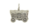 Sterling Silver Covered Wagon Charm with Jumpring