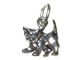 Sterling Silver Kitten Charm with Jumpring