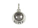 Sterling Silver KITTY Bowl Charm with Jumpring