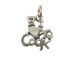 Sterling Silver I Love To Cook Charm with Jumpring
