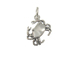 Sterling Silver Crab Charm with Jumpring