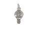 Sterling Silver Light bulb with  The Lord Is My Light Charm with Jumpring