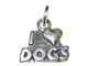 Sterling Silver I Love Dogs Charm with Jumpring