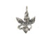 Sterling Silver Angel with Heart Charm with Jumpring