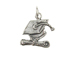 Sterling Silver Graduation Cap & Diploma Charm with Jumpring