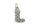 Sterling Silver Christmas Stocking Charm with Jumpring