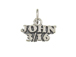 Sterling Silver John 3/16 Charm with Jumpring