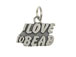 Sterling Silver I Love To Bead Charm with Jumpring