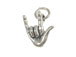Sterling Silver I Love You Sign Language Charm with Jumpring