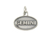 Sterling Silver Gemini Zodiac Pendant Charm with Jumpring