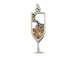 Sterling Silver Cocktail Champagne Charm