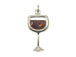 Sterling Silver Cocktail Red Wine Charm