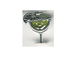 Sterling Silver Cocktail Margarita Glass Charm with Lt. Green Crystal Charm