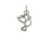 Sterling Silver Dove Outline Charm with Jumpring