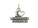 Sterling Silver I Love Monster Trucks Charm with Jumpring