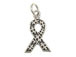 Sterling Silver Autism Awareness Ribbon Charm with Jumpring